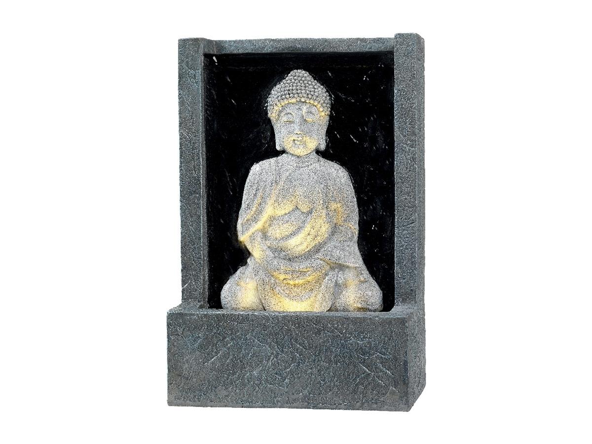Statue fontaine ext rieure mod le bouddha avec led effet - Statue bouddha exterieur pour jardin ...