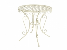 Table de jardin ronde pliante modèle Vienna Ø 70 cm   Jardideco