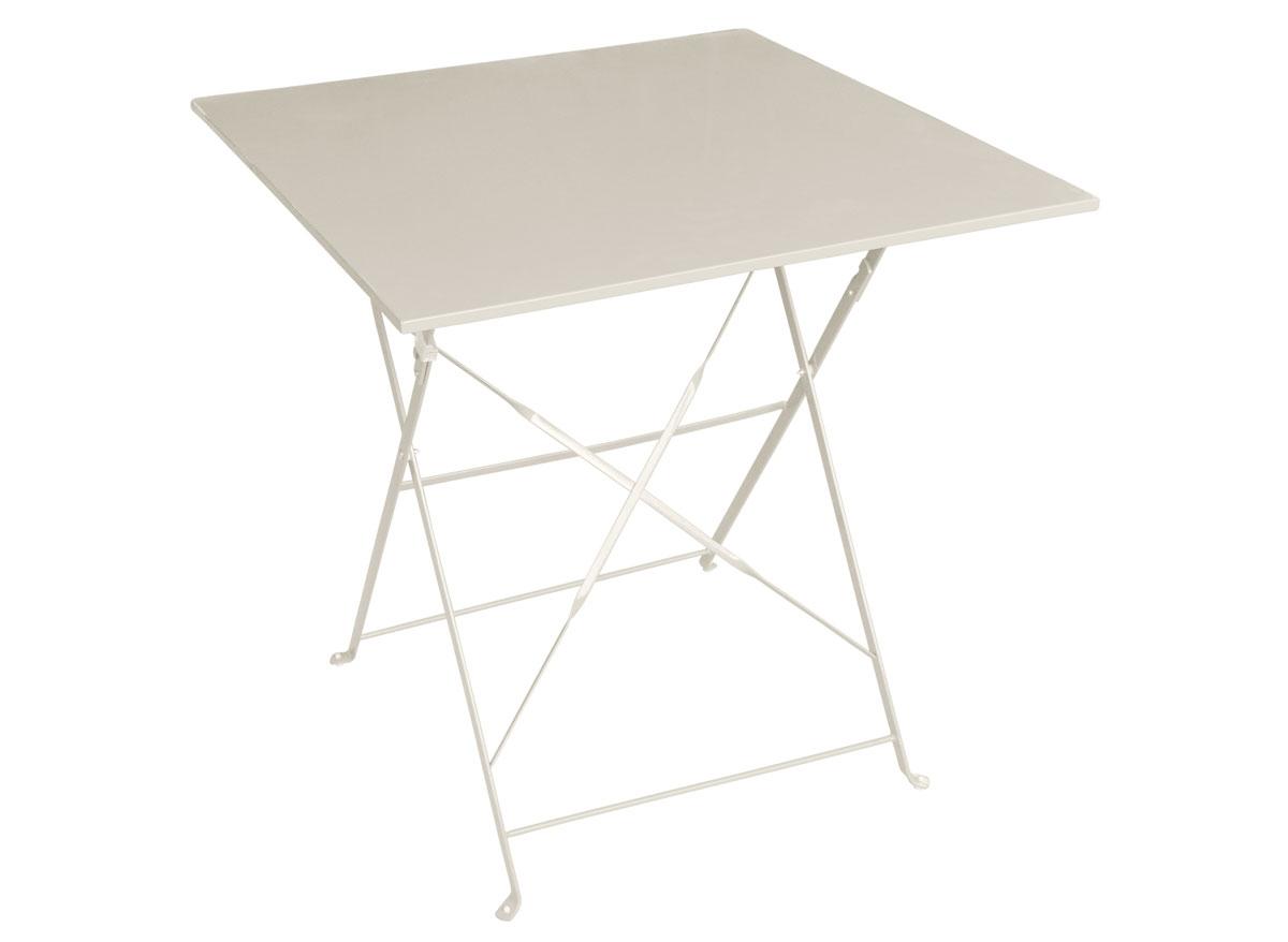 Table Pliante Contre Mur table de jardin hesperide carrée camargue 70 x 70 cm | jardideco