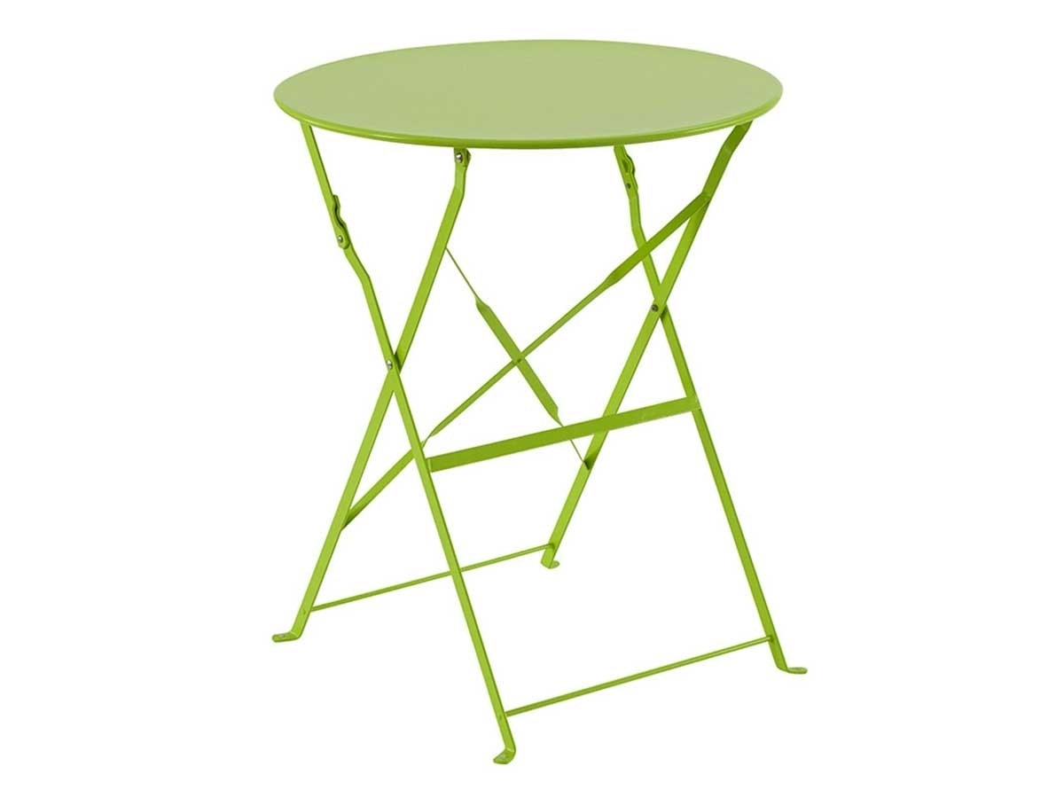 Table de jardin Hespéride métal pliante ronde Camargue | Jardideco