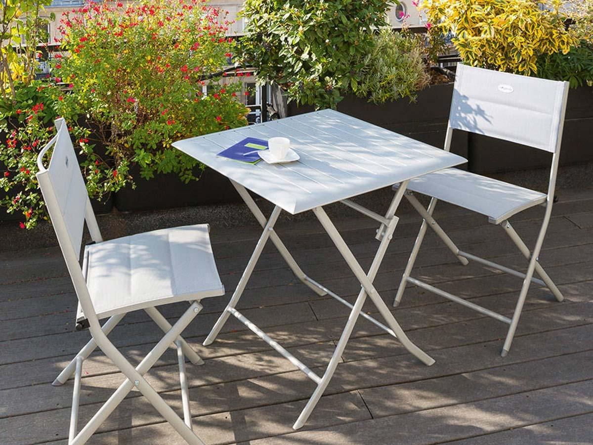 Table de jardin Hespéride carrée modèle Azua 2 places