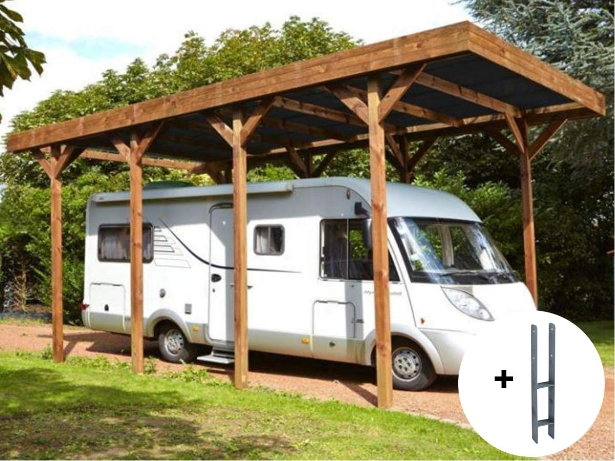 carport bois madeira sp cial camping car 32 4 m. Black Bedroom Furniture Sets. Home Design Ideas