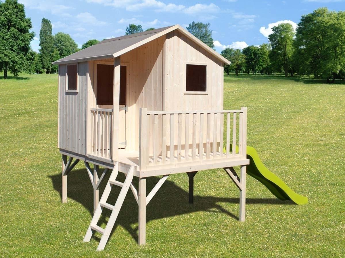 cabane maisonnette enfant soulet mod le sixtine sur pilotis. Black Bedroom Furniture Sets. Home Design Ideas