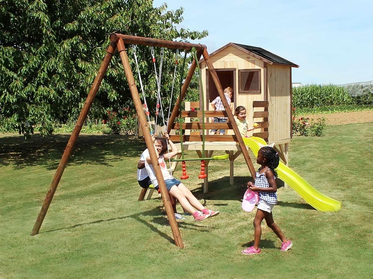 portique en bois pour enfants mod le lynda soulet. Black Bedroom Furniture Sets. Home Design Ideas