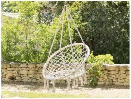 Chaise détente macramé Plumaya Beige - Hespéride