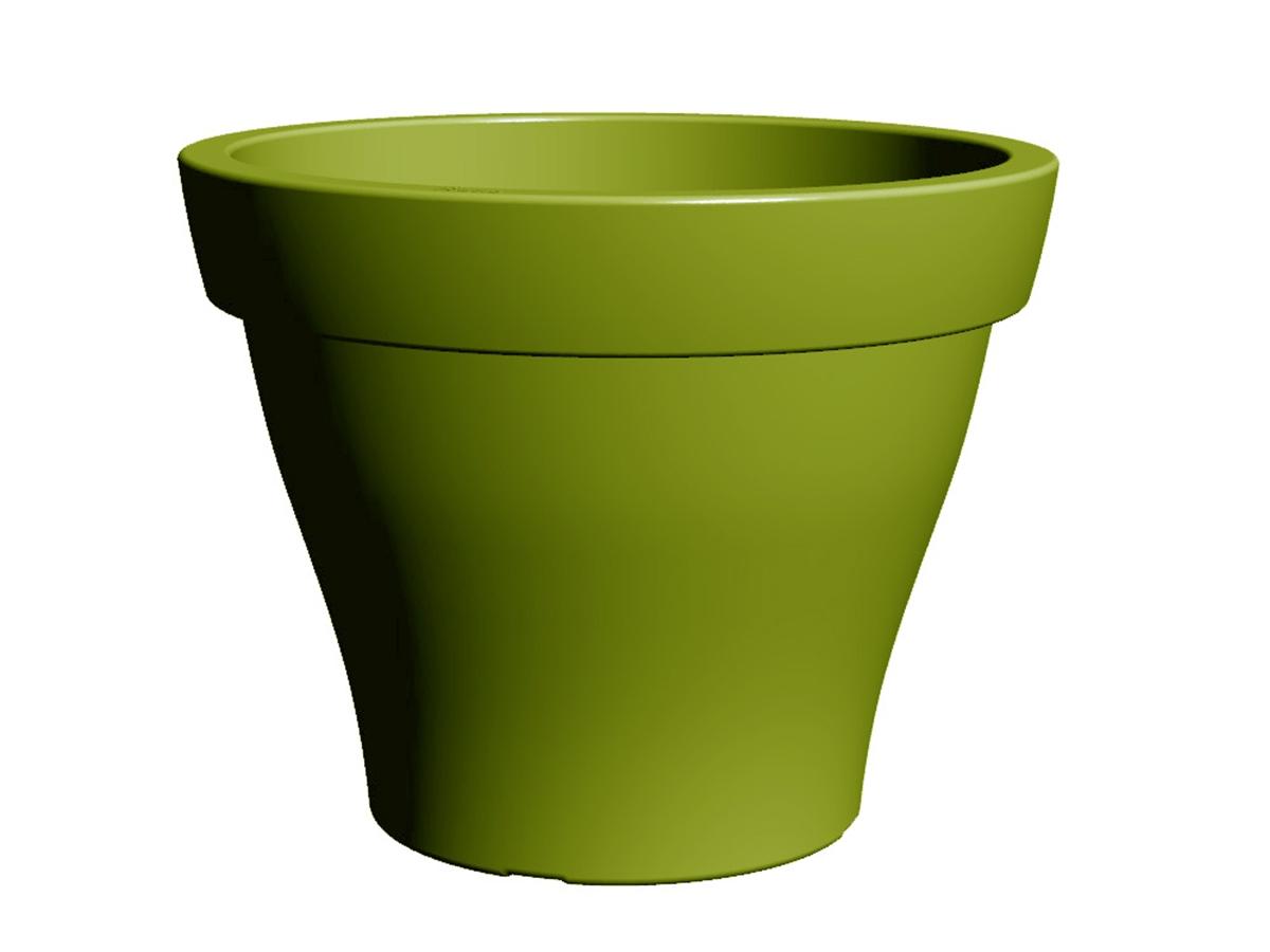 Pot de fleur plastique rond Poetic Roméo taille XXL couleur ...