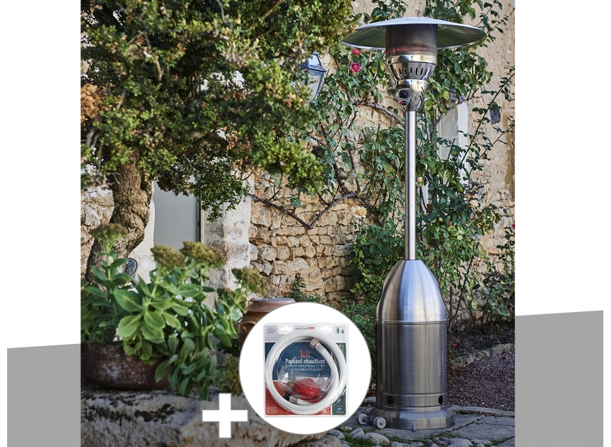 parasol chauffant gaz sun premium favex jardideco. Black Bedroom Furniture Sets. Home Design Ideas