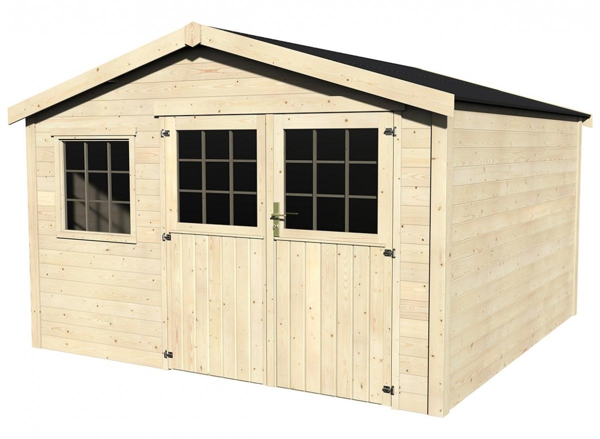 Abri de jardin bois Tourville 28 mm - 11,40 m²