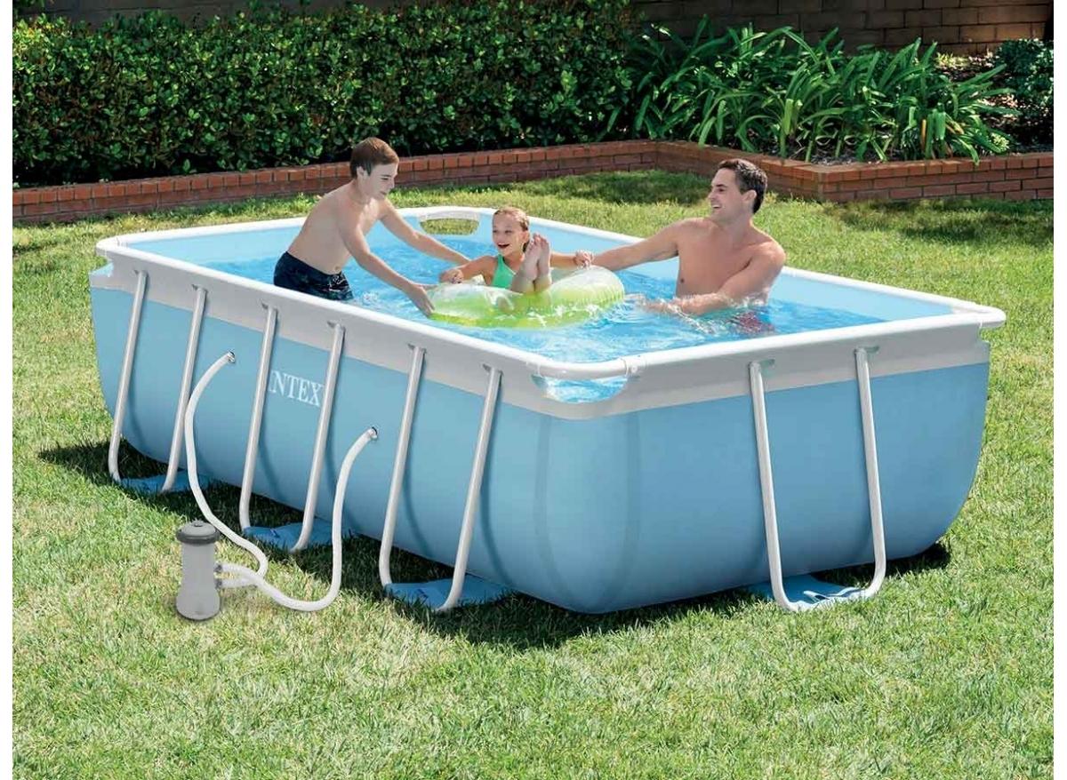 Piscine tubulaire rectangulaire intex 3 x 1 75 x 0 80 m - Intex piscine tubulaire rectangulaire ...