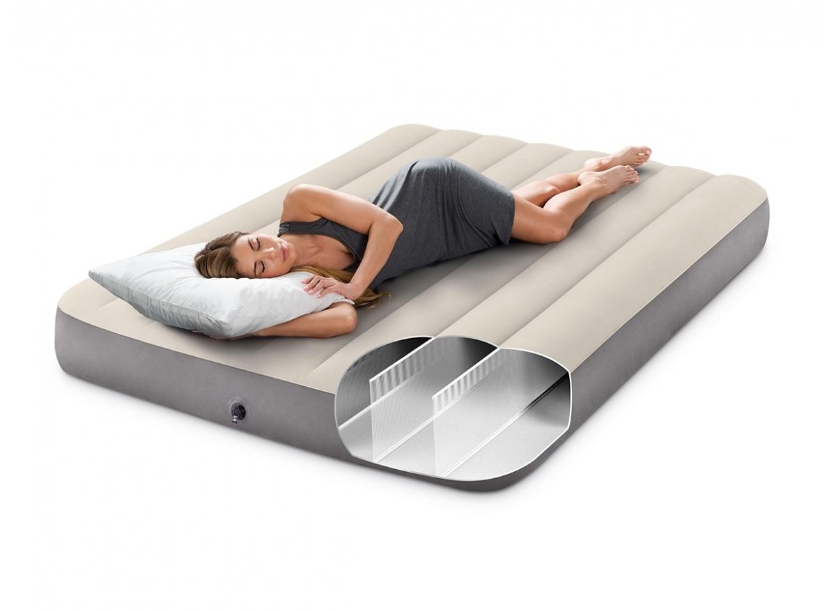 matelas gonflable intex downy 2 places avec fiber tech. Black Bedroom Furniture Sets. Home Design Ideas