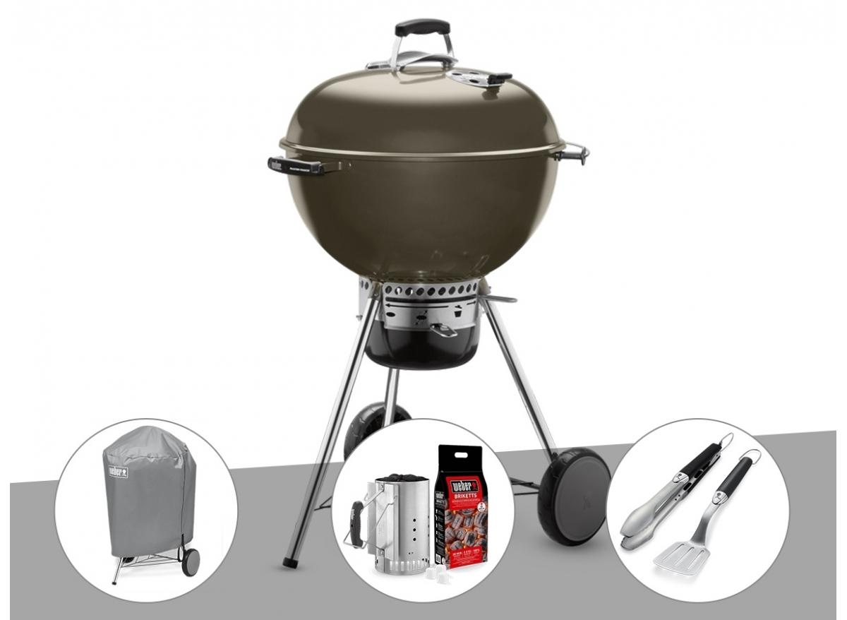 Comment Récupérer Une Plancha Rouillée barbecue charbon weber master touch gbs 57 gris +
