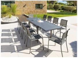 Table de jardin Hespéride extensible Piazza 4/ 8 places ...