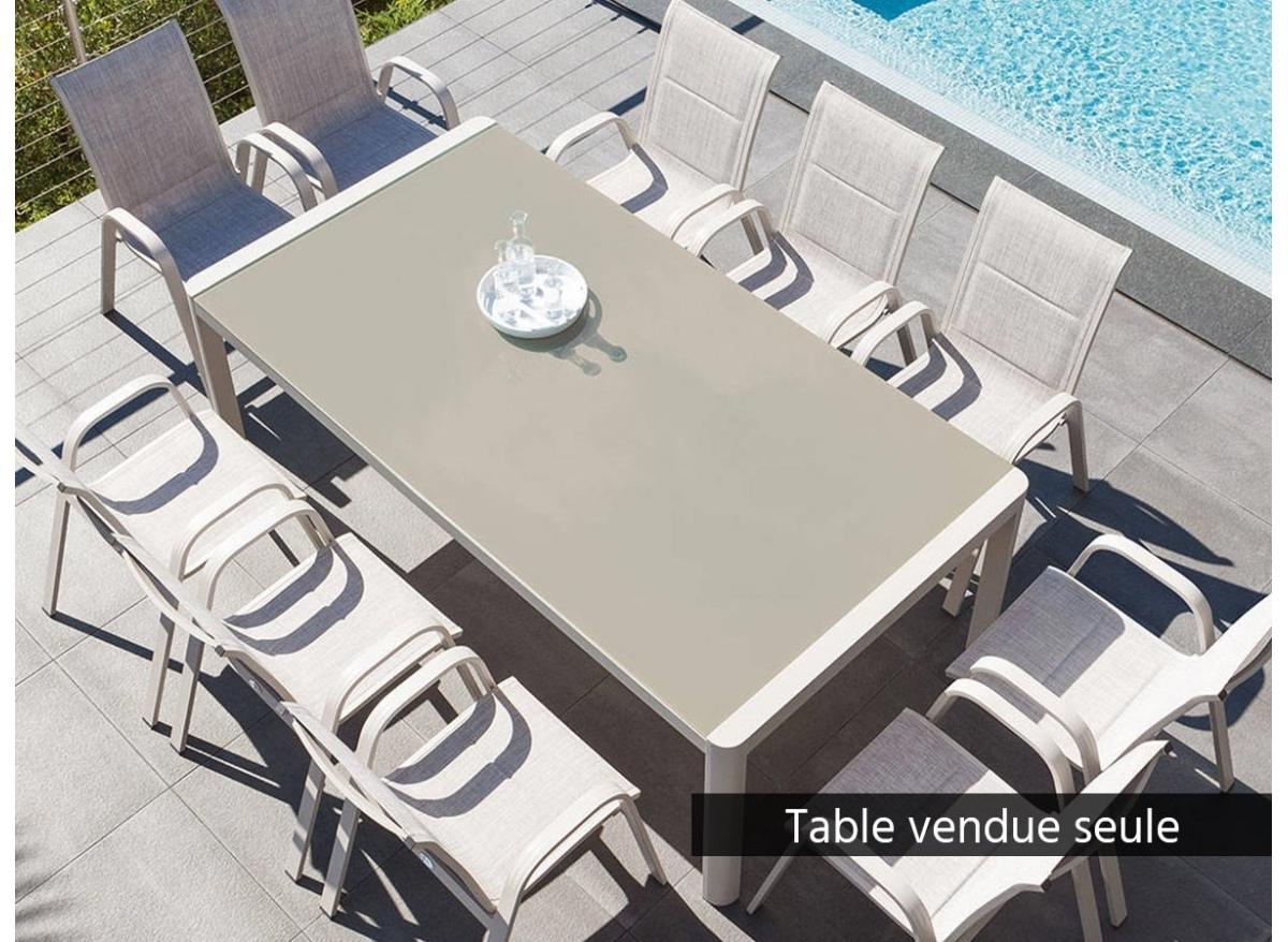 Table de jardin rectangulaire Absolu 10 places Taupe -