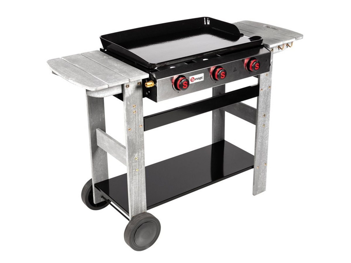 Barbecue Gaz Et Plancha plancha gaz 3 brûleurs san sebastian - 8 kw -