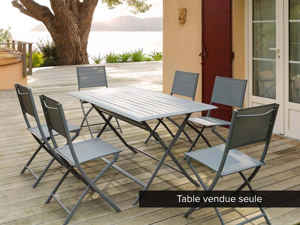 Table de jardin rectangulaire Azua 6 places -