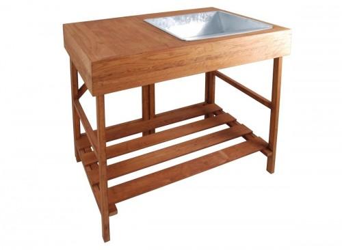 Table à rempoter en bois dur