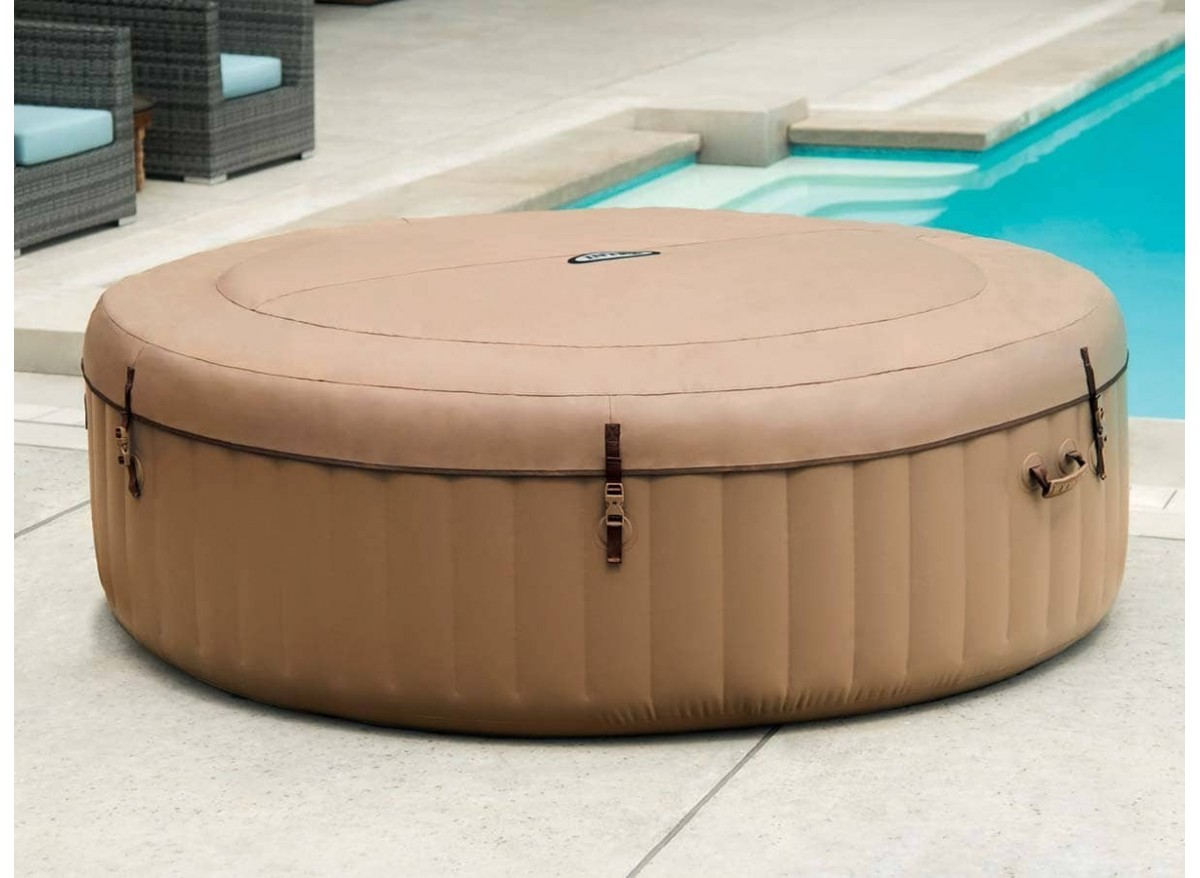 Spa Gonflable Intex Rond Bulles 6 Places Modele Sahara