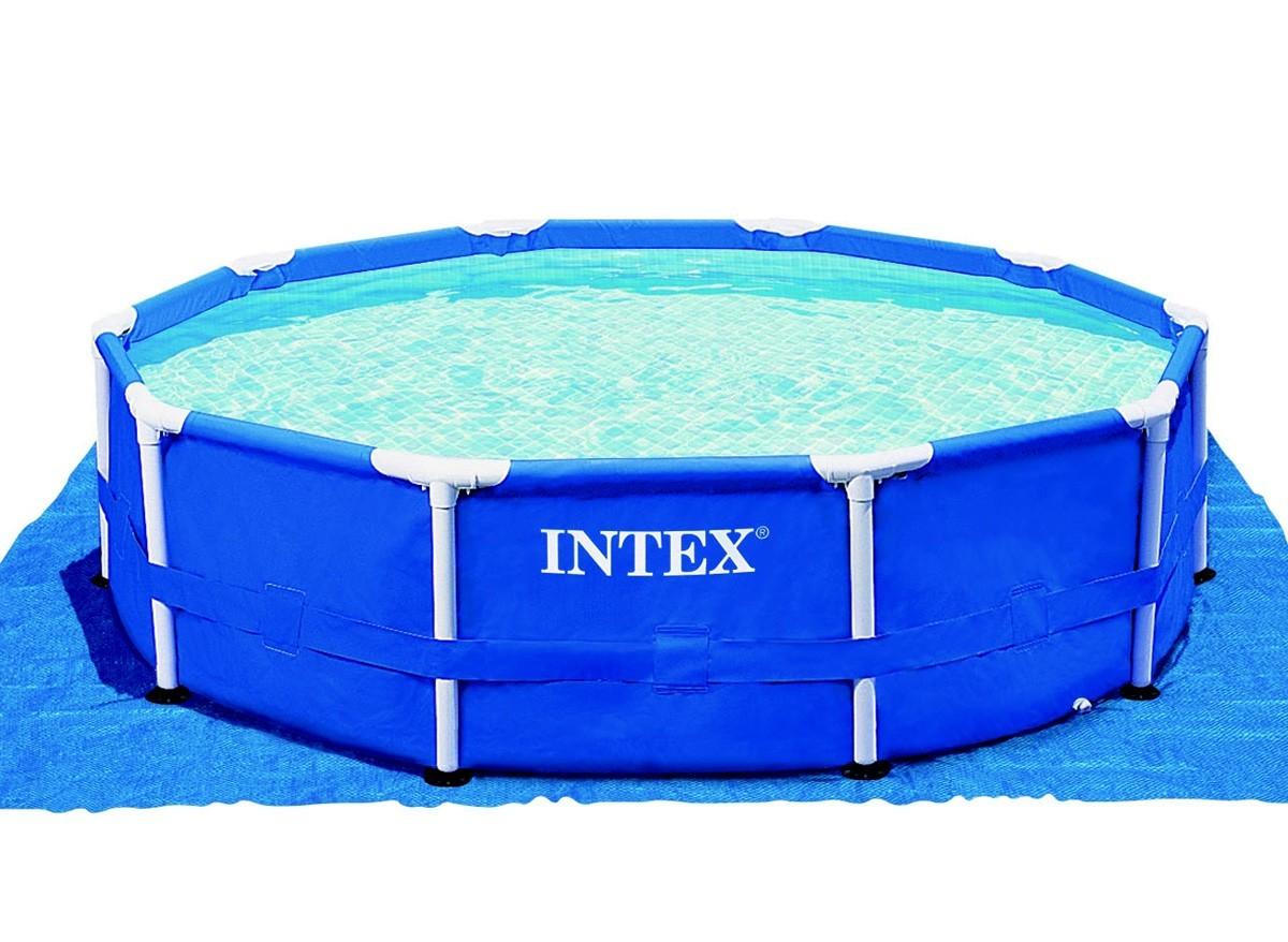 Tapis de sol pour piscine hors sol intex jardideco for Tapis flottant piscine