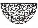 Paillasson tapis caoutchouc demi-lune - 68 x 40 cm