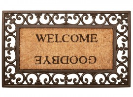 Paillasson tapis Welcome Goodbye caoutchouc coco - 76 x 45 cm