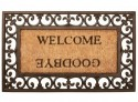 Paillasson tapis Welcome Goodbye caoutchouc coco - 76 x 45 cm