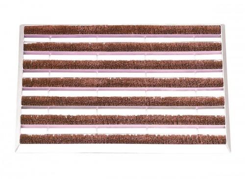 Paillasson tapis galva rouleaux coco interchangeables - 59 x 39 cm