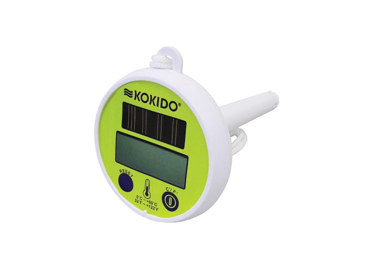 Thermom tre de piscine digital solaire kokido jardideco - Thermometre de piscine digital ...