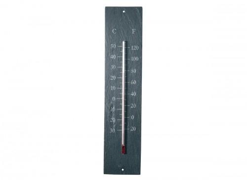 Thermomètre de jardin en schiste