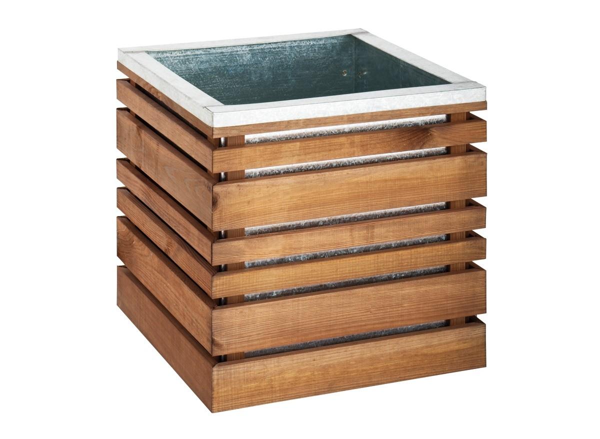 jardini re bois carr e 143 litres lign z 60 jardipolys jardideco. Black Bedroom Furniture Sets. Home Design Ideas