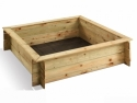 Bac à sable carré en bois + Couvercle