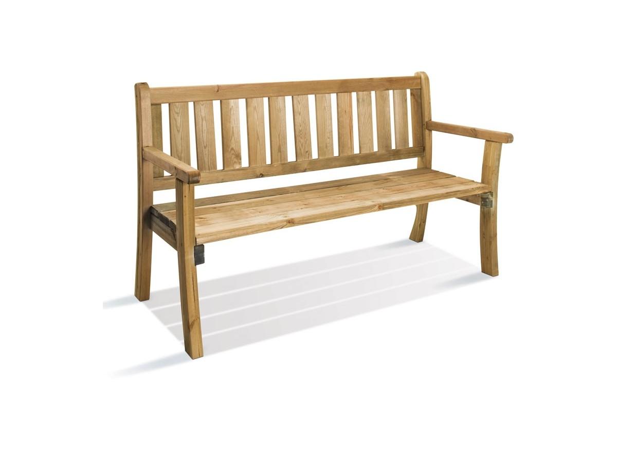 banc de jardin en bois philadelphia jardipolys jardideco. Black Bedroom Furniture Sets. Home Design Ideas