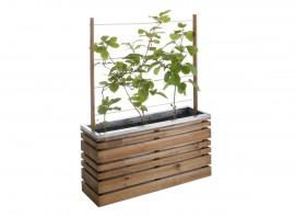 Jardinière en bois rectangulaire + treillis Lign Z 100