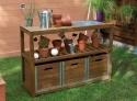 Table de préparation teintée brun