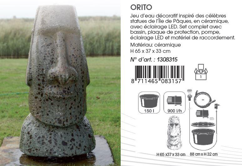 Fontaine de jardin orito statue le de paques jardideco for Fontaine de jardin zinc