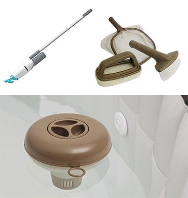 Accessoire spa gonflable porte verre appuie t te et - Accessoire spa gonflable ...