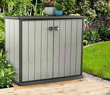 armoire de rangement jardin et ext rieur petit prix. Black Bedroom Furniture Sets. Home Design Ideas