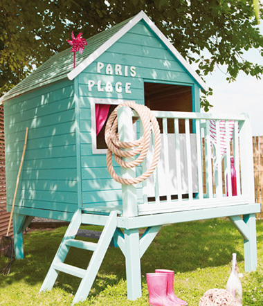 Cabane pour enfant maisonnette en bois pvc smoby soulet - Maison de jardin pour enfant ...
