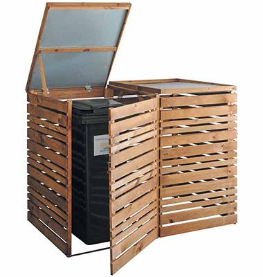 cache poubelle rangement am nagement jardin. Black Bedroom Furniture Sets. Home Design Ideas