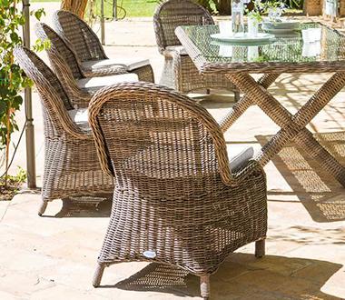 Fauteuil de jardin resine tressee et chaises Hespéride