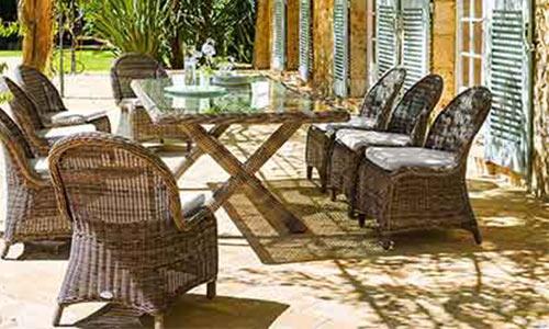 fauteuil de jardin resine tressee et chaises hesp ride. Black Bedroom Furniture Sets. Home Design Ideas