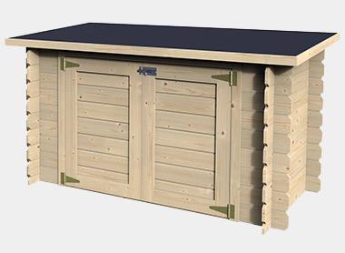 coffre de filtration local technique bois pour piscine. Black Bedroom Furniture Sets. Home Design Ideas