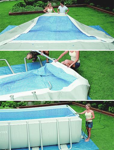 piscine tubulaire rectangulaire intex cadeaux. Black Bedroom Furniture Sets. Home Design Ideas