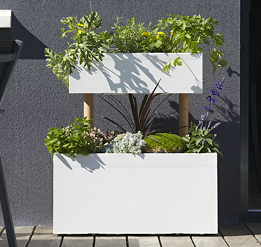Jardini re bois plastique eda elho jardipolys poetici - Grande jardiniere en plastique ...