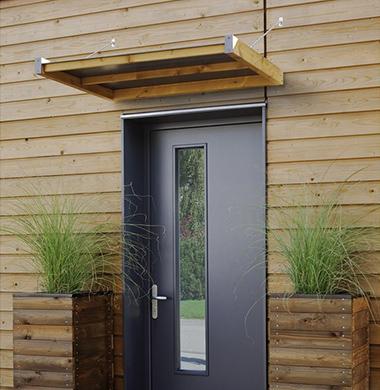 marquise et auvent de porte. Black Bedroom Furniture Sets. Home Design Ideas