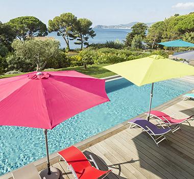 parasol droit et parasol d port hesperide pas cher. Black Bedroom Furniture Sets. Home Design Ideas