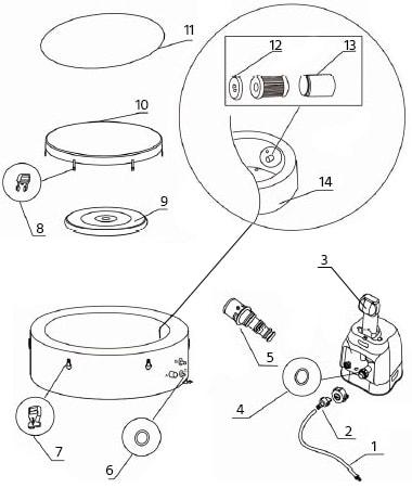 Piece Detachee Pour Spa Gonflable Intex Couvercle Pompe Autres
