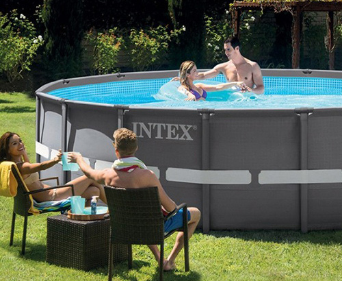 piscine hors sol intex tubulaire et autoport e piscine bois ubbink. Black Bedroom Furniture Sets. Home Design Ideas