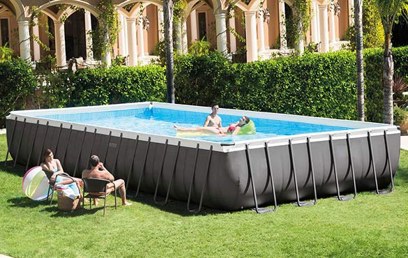 piscine tubulaire rectangulaire intex cadeaux. Black Bedroom Furniture Sets. Home Design Ideas