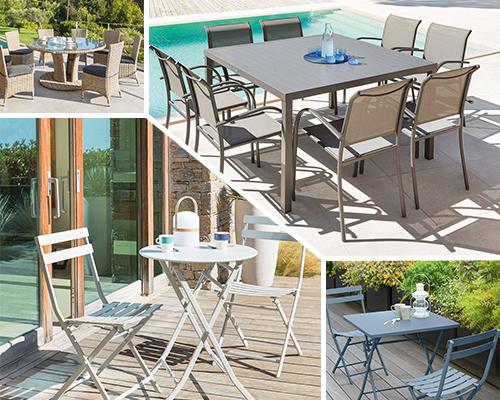 table de jardin ronde carr e ou rectangle hesp ride grand choix. Black Bedroom Furniture Sets. Home Design Ideas