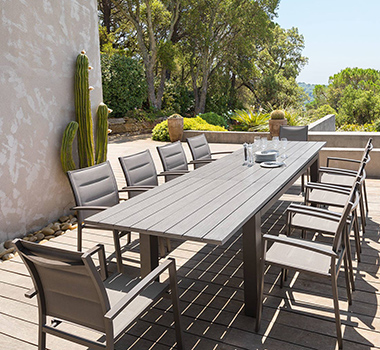 Table extensible Hespéride pour jardin et terrasse à petit prix